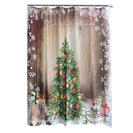 Badezimmer Duschvorhang, Yogogo Weihnachten Kinder Wasserdichte