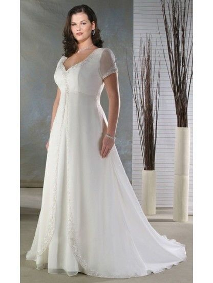 plus size empire waist wedding dresses with sleeves - Google Search ...