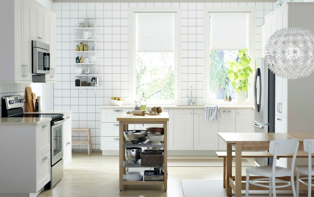 Ikea Kitchen Birch grimslov | cottage kitchen ideas / elements | pinterest | white