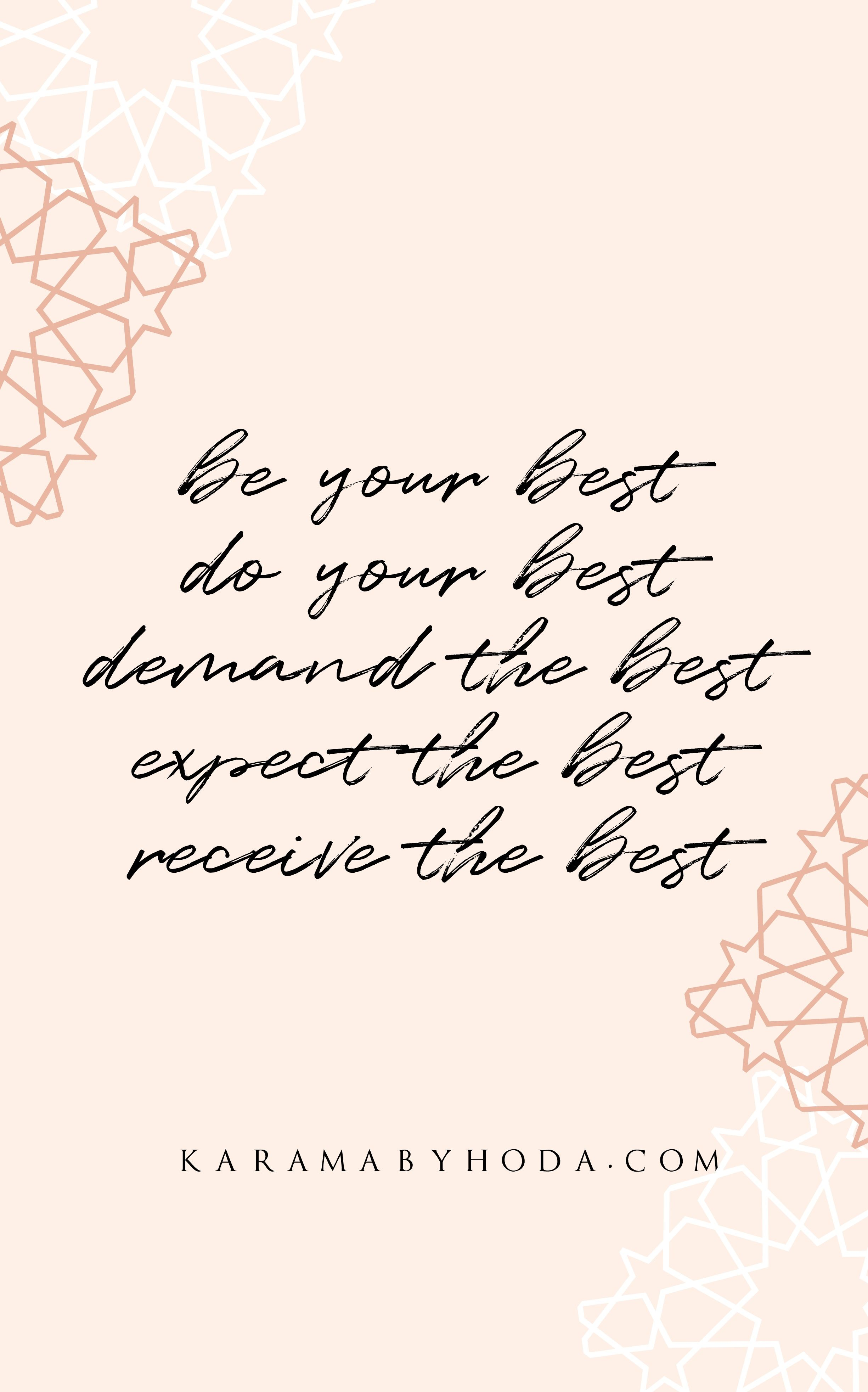 Shop Wall Art Be Your Best Do Your Best Demand The Best Expect The Best Receive The Best Girlbossq Good Work Quotes Best Self Quotes Do Better Quotes