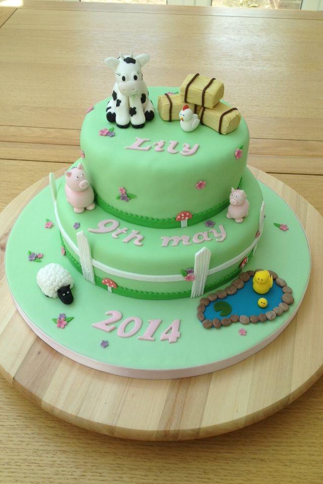 Farm cake My cakes by Cuckoo Lane Cakes Pinterest Lane cake