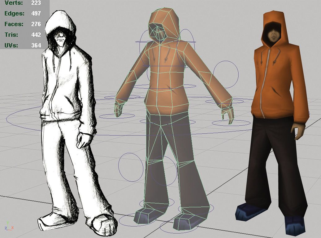Hoodie update by laperen | character in 2019 | Low poly, Low