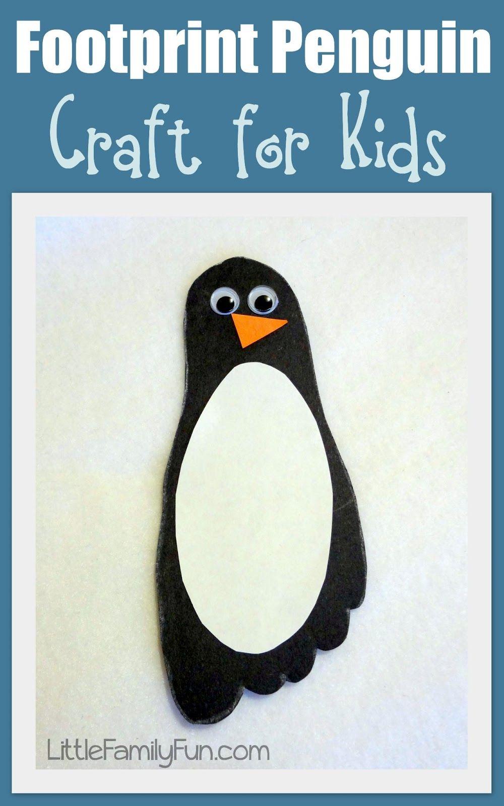 Footprint Penguin Craft Jesse Davidson we should do this