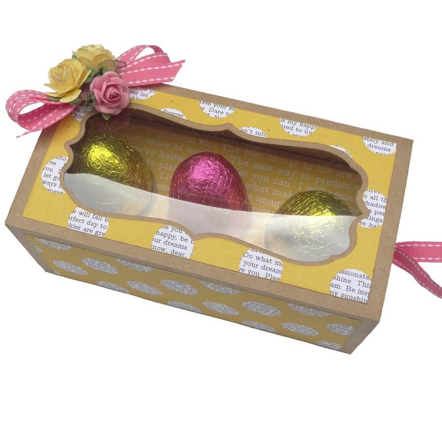 Chocolate easter egg gift box this easter bunny delivers his eggs chocolate easter egg gift box this easter bunny delivers his eggs in style cutting negle Choice Image