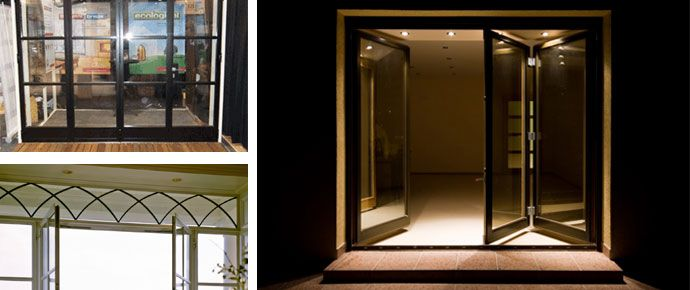 Bi-Fold Doors - where you can open one as a regular door or bi-fold open the other french door all the way.