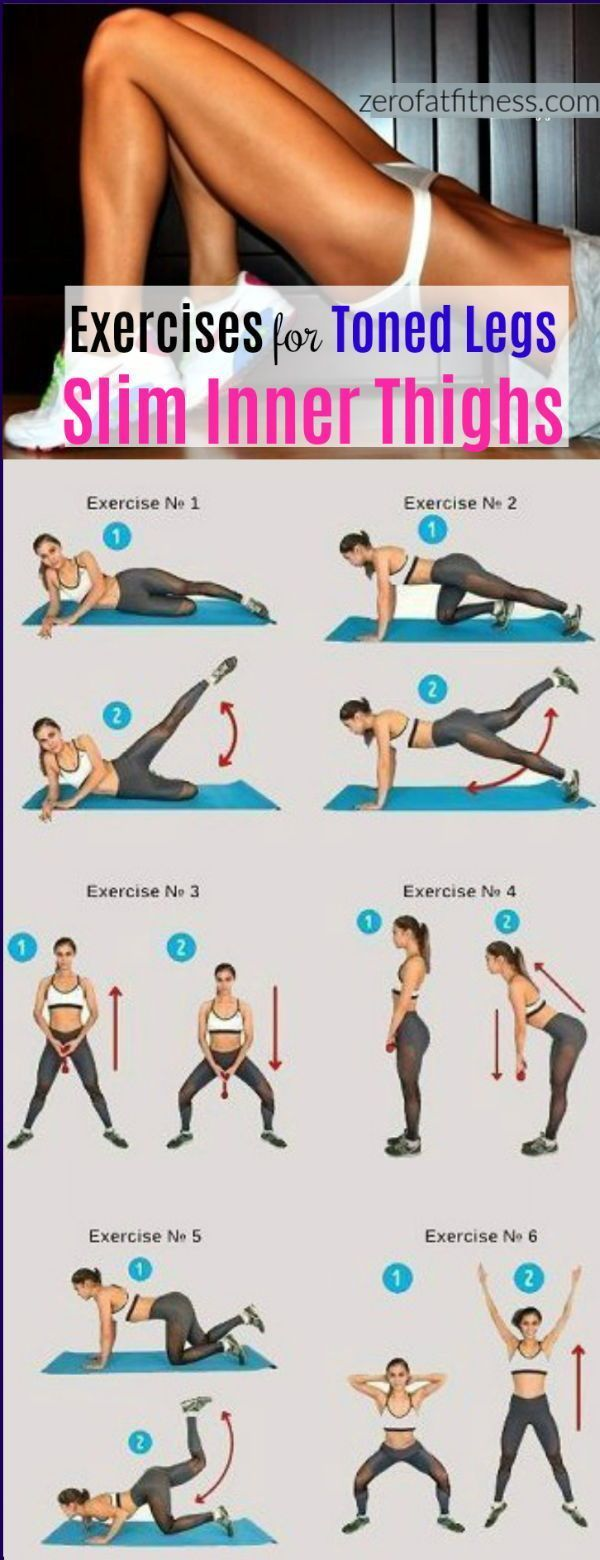 How to Tone Thighs and Legs in 11 Weeks. Perfect Leg Workouts to