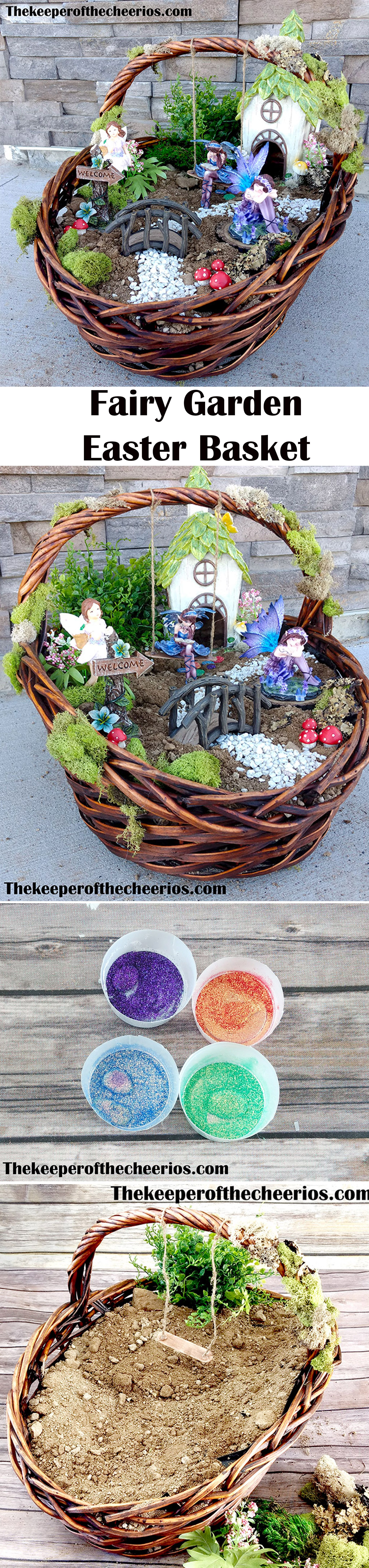 Easter basket fairy garden tired of the same old easter baskets easter basket fairy garden tired of the same old easter baskets this is a fun way to mix up the traditional easter basket into something fun and different negle Choice Image