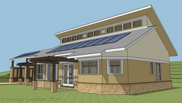 Passive solar home design department of energy 1000 1000 for Solar house plans