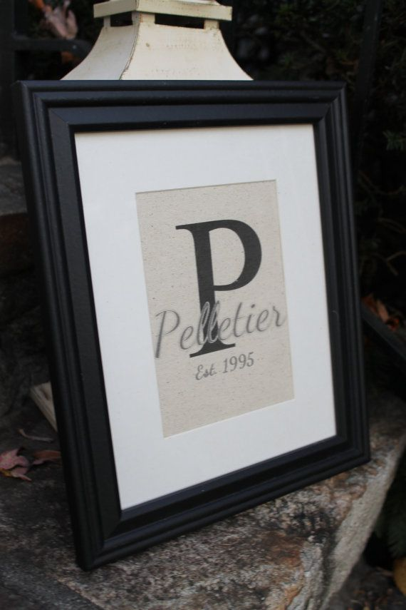 002a0a9085bd Natural Canvas Print Monogram Name and by ToadstoolPond on Etsy ...
