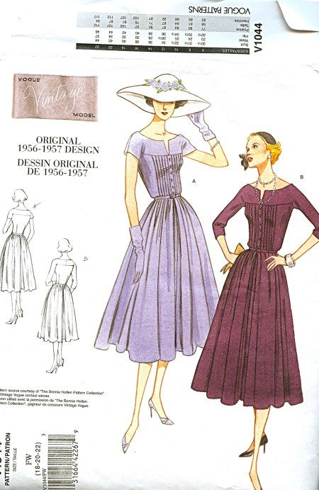 In progress: Vogue 1044 | Sewing Patterns and Fitting Clothes ...