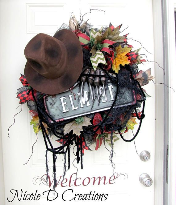 Freddy Krueger Wreath, Halloween Wreath, Nightmare on Elm Street
