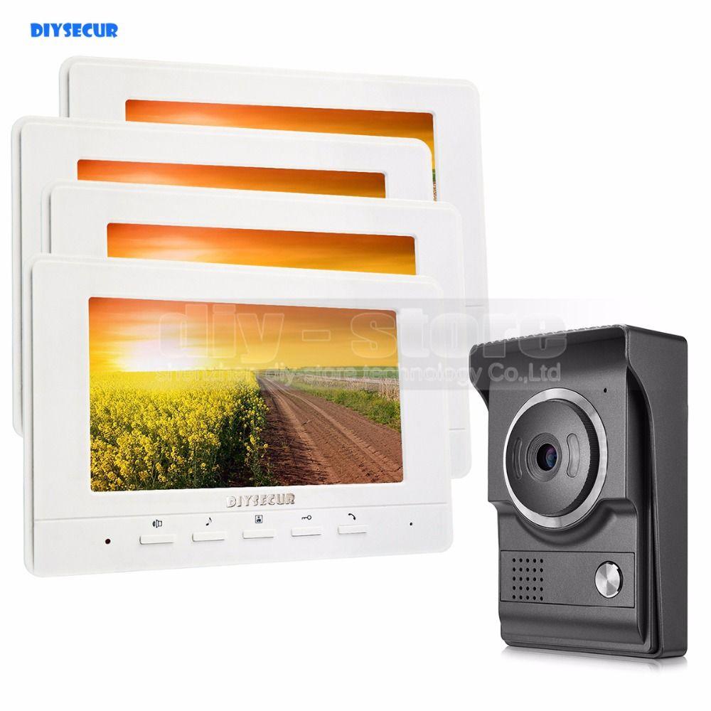 DIYSECUR 7inch Video Intercom Video Door Phone 700TV Line IR Night ...