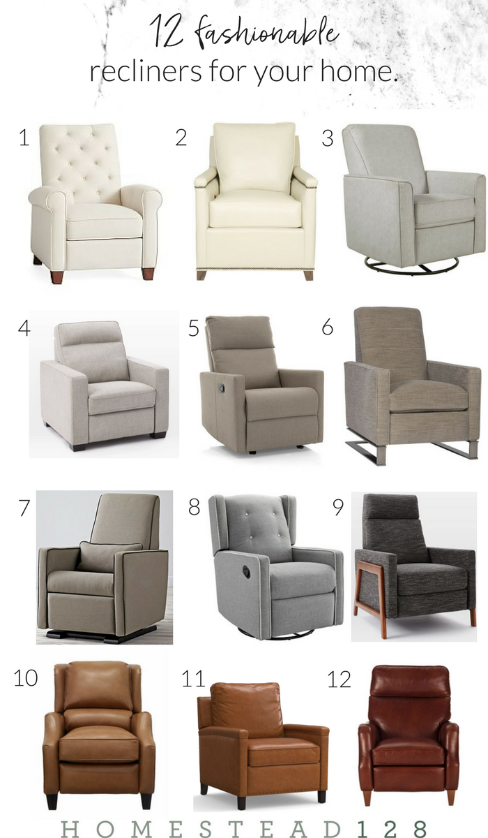 12 Fashionable And Timeless Recliners For Your Modern Farmhouse Homestead 128 Living Room Furniture Recliner Living Room Recliner Farm House Living Room