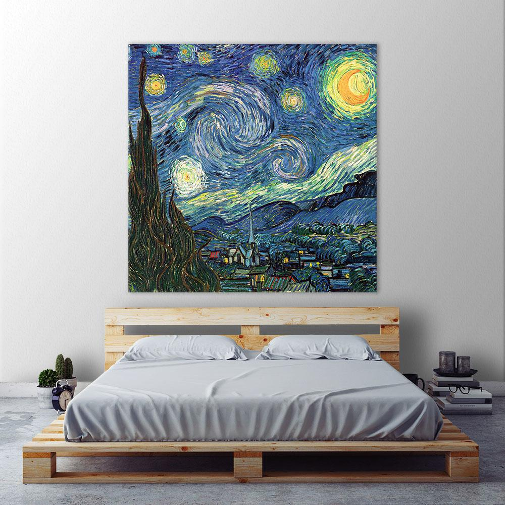 54 In X 54 In Blue Sky By Vincent Van Gogh Printed Framed Canvas Wall Art Framed Canvas Wall Art Canvas Wall Art Canvas Frame
