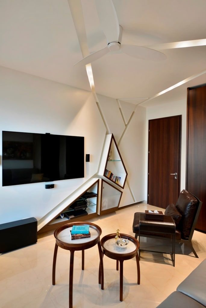 Led Tv Panels Designs For Living Room And Bedrooms: Minimalist Media Room By Homify Minimalist Mdf