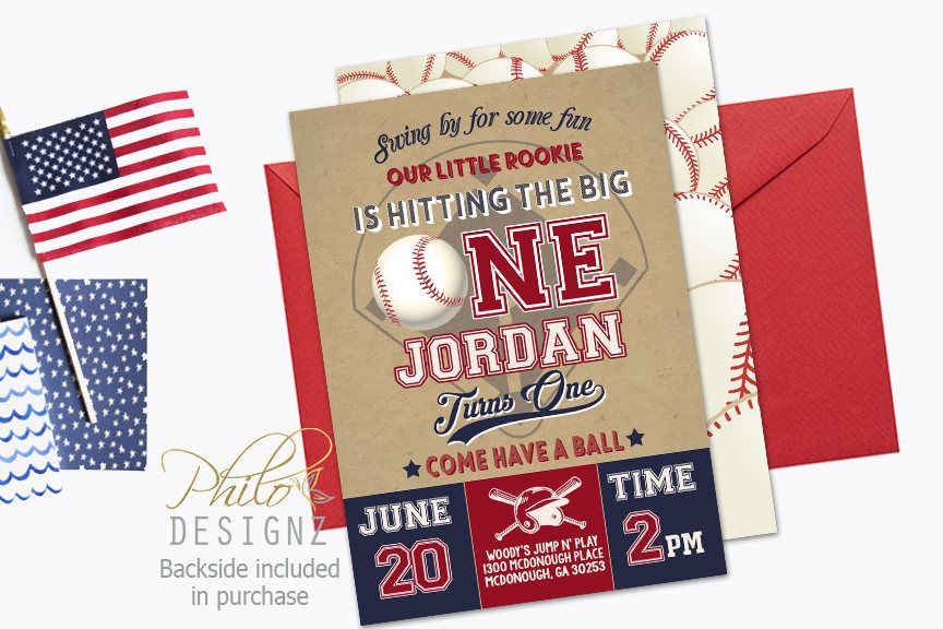 Baseball Invitation, Baseball First Birthday Invitation, Baseball ...
