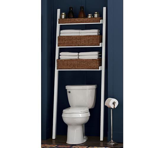 Ainsley Over The Toilet Ladder White Like In General - Pottery barn bathroom storage for bathroom decor ideas