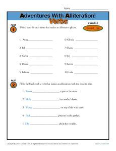Alliteration Printable Worksheets