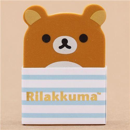 kawaii brown Rilakkuma bear eraser from Japan 2