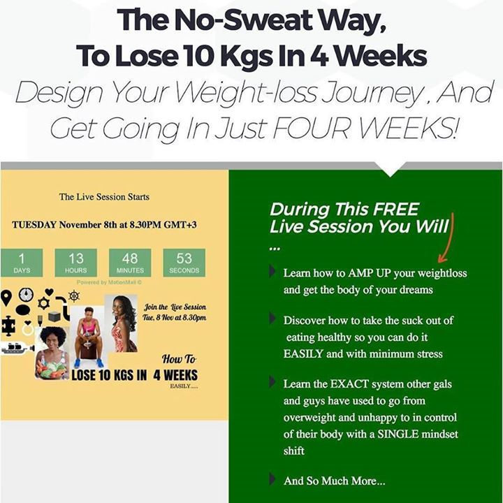 It's here at last! To celebrate going through the successfully..coz you know you aced this!...we are having a live session on Tuesday (tomorrow) at 8.30 pm Kenyan time. Come and lets chat about how to the progress and learn tried and true methods in The No-Sweat Way To Lose 10 Kgs In 4 Weeks @lizzkonstantaras @aumayzing https://www.instagram.com/p/BMfrBT9hdfg/ Learn more at http://lovemylifestyle.co