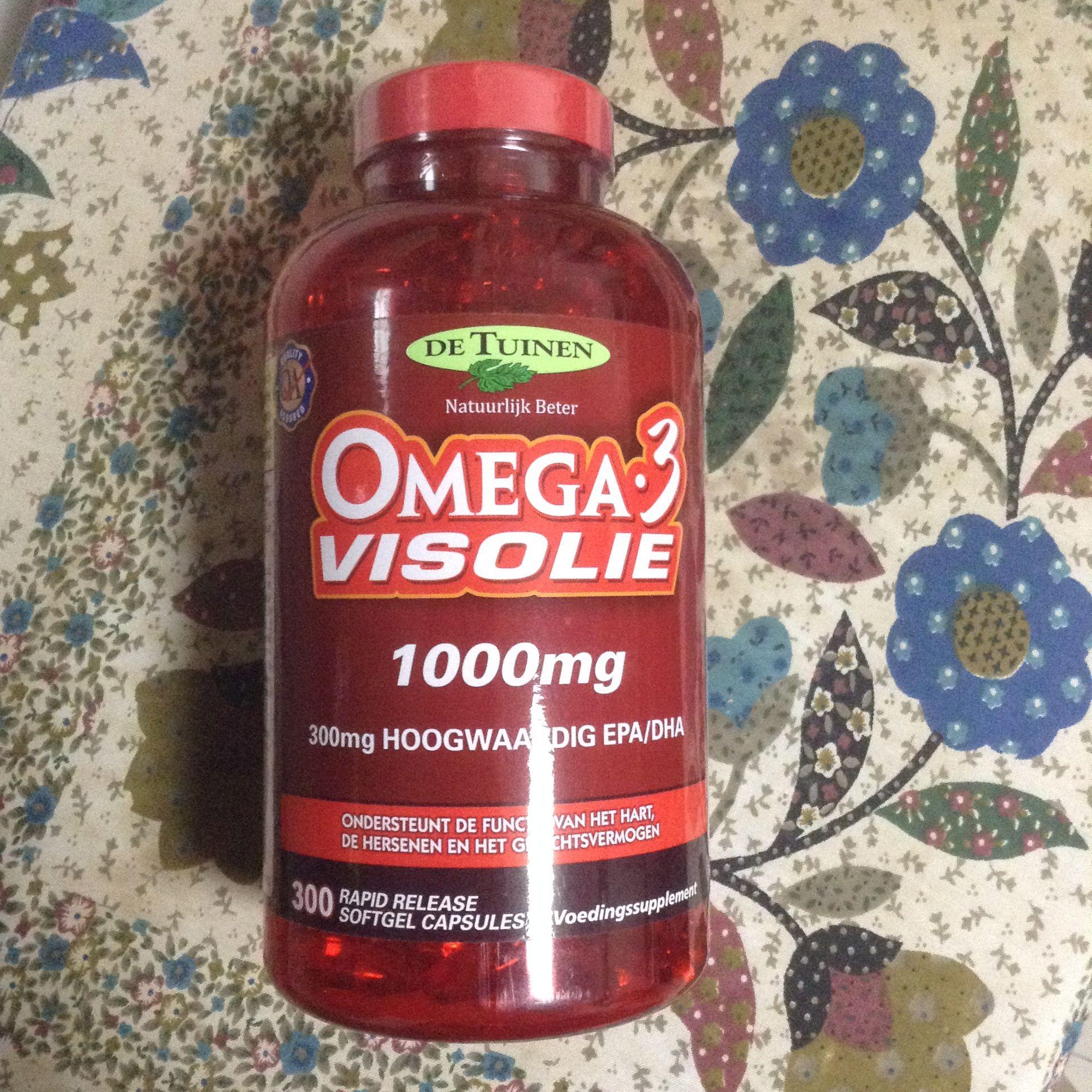 深海鱼油(Omega 3 Visolie)1000mg De Tuinen