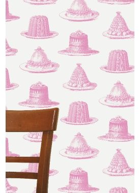 """Jelly & Cake"" Wallpaper from Thornback & Peel."