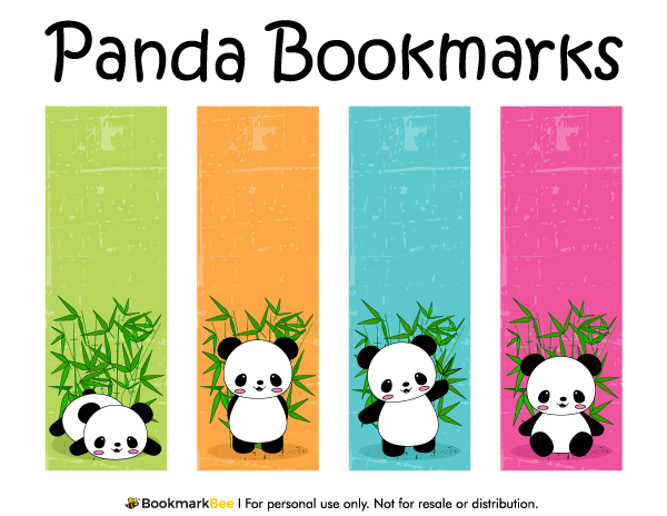 Free Printable Panda Bookmarks Download The Pdf Template At Http