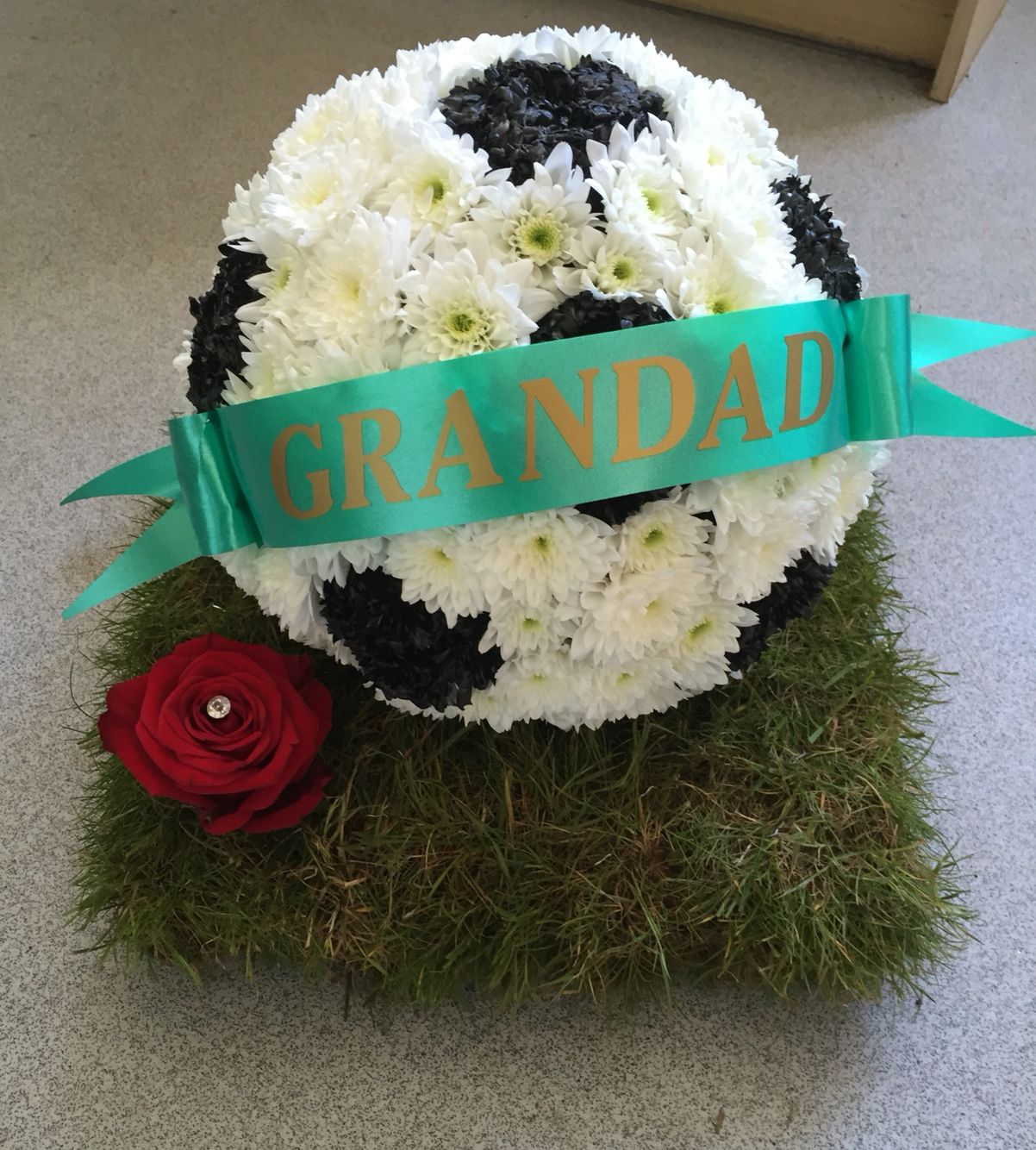 3d football funeral tribute creations by eva mays flowers 3d football funeral tribute izmirmasajfo Images