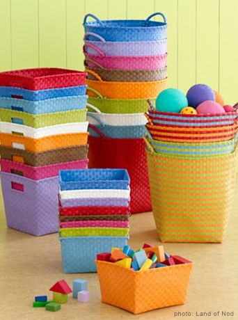 String Storage Baskets 8 15 Each These Bright Are Great For Pops Of Color In An Otherwise Plain Room Or Easily Transporting Toys From