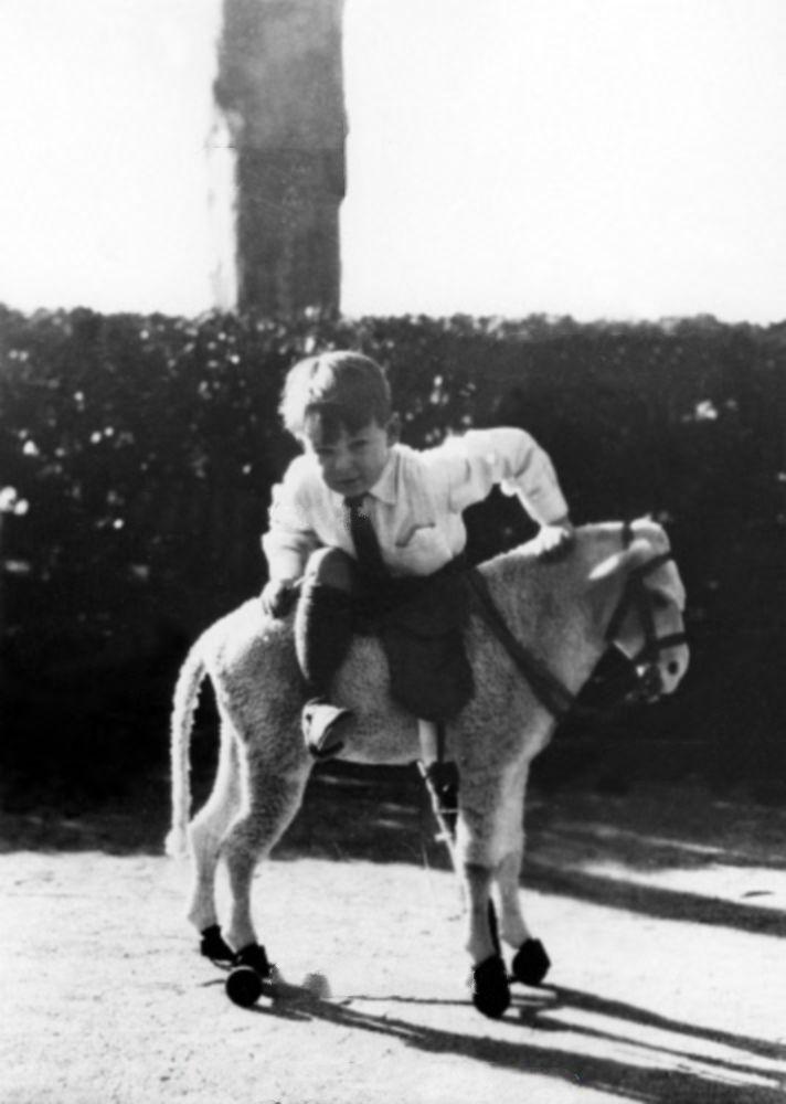 Rainier as a young boy in Monaco