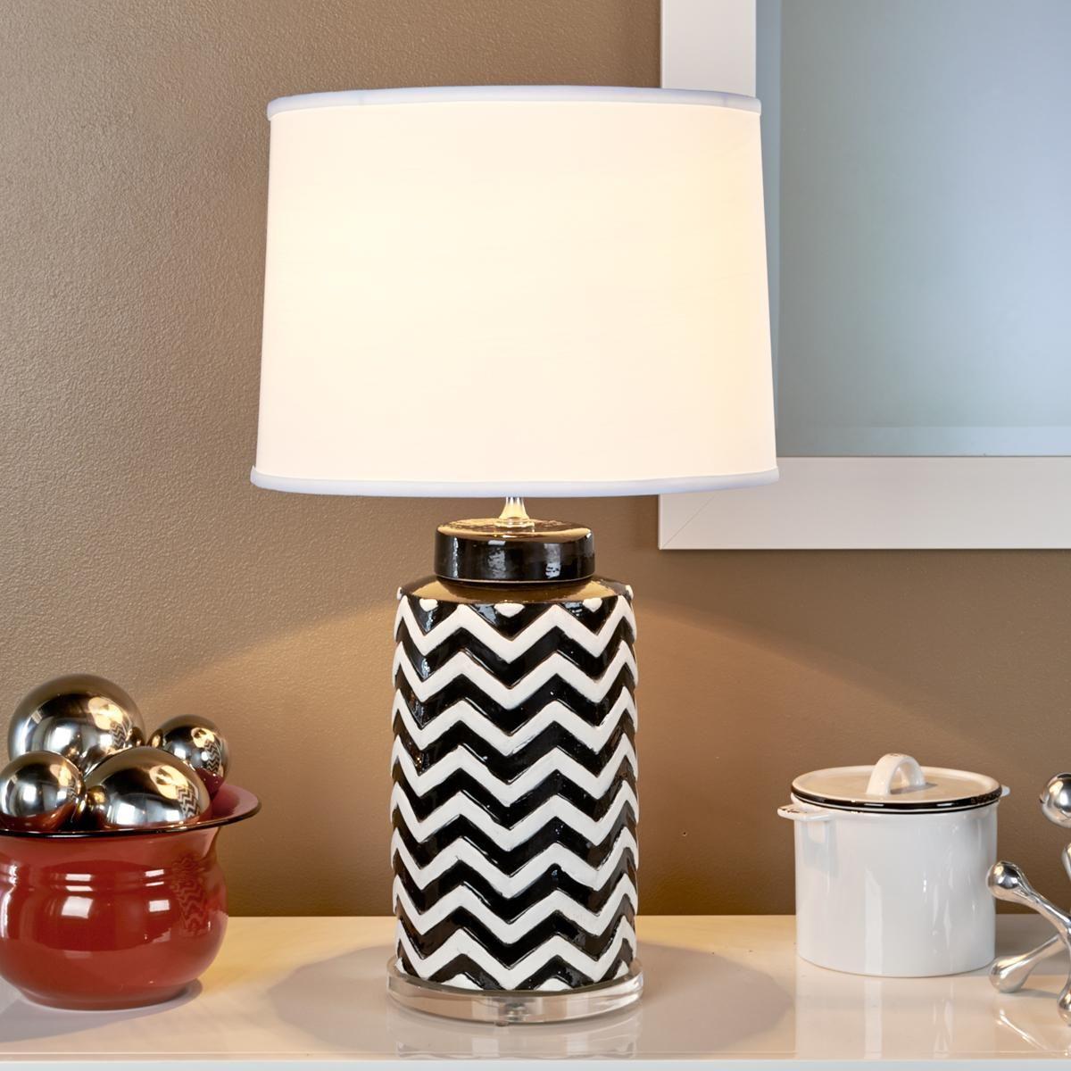 Black And White Chevron Table Lamp It S Black Amp White