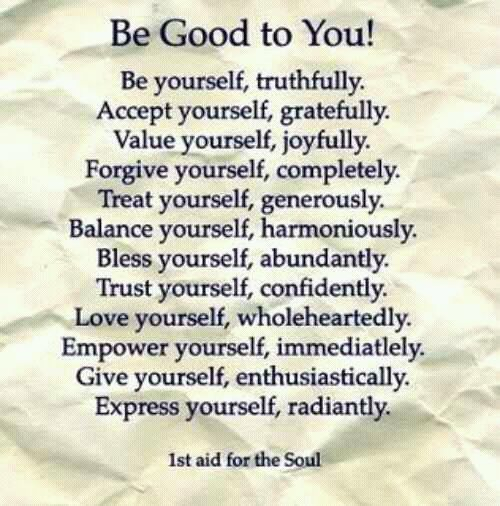 Be good to You!!