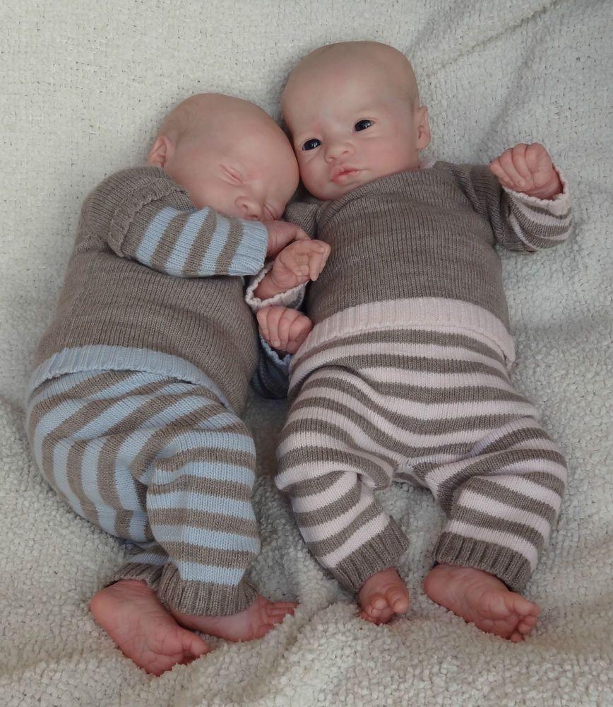 Baby Dust Nursery REBORN Baby TWINS Presley Awake and Asleep by Cassie Brace