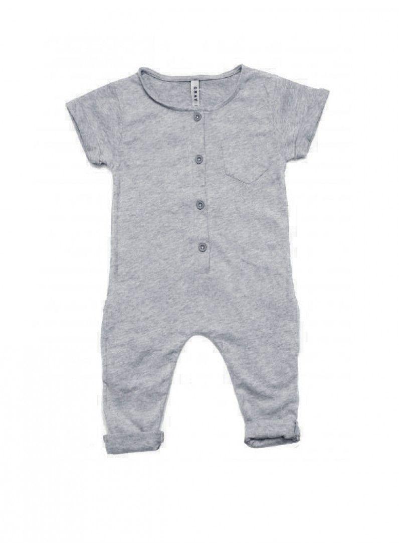 Organic Summer Suit Grey Melange Fawn Shoppe Global Boutique
