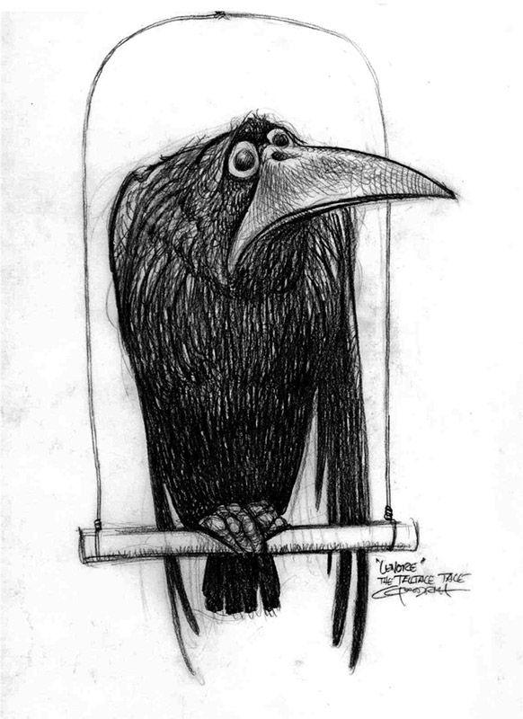 Рисунки ворон смешные, янь