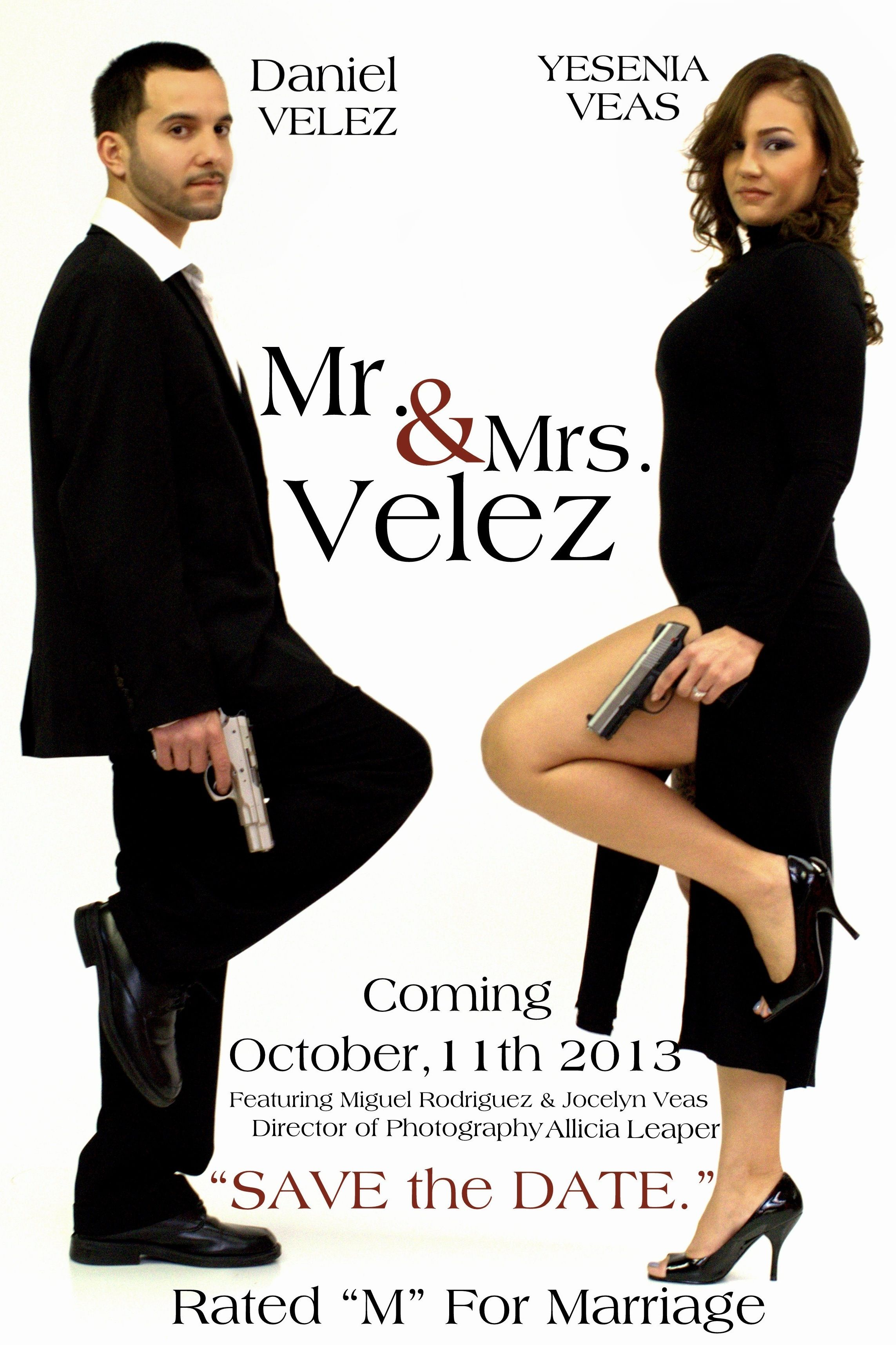 Mr. and Mrs. Smith save the date wedding funny Check out