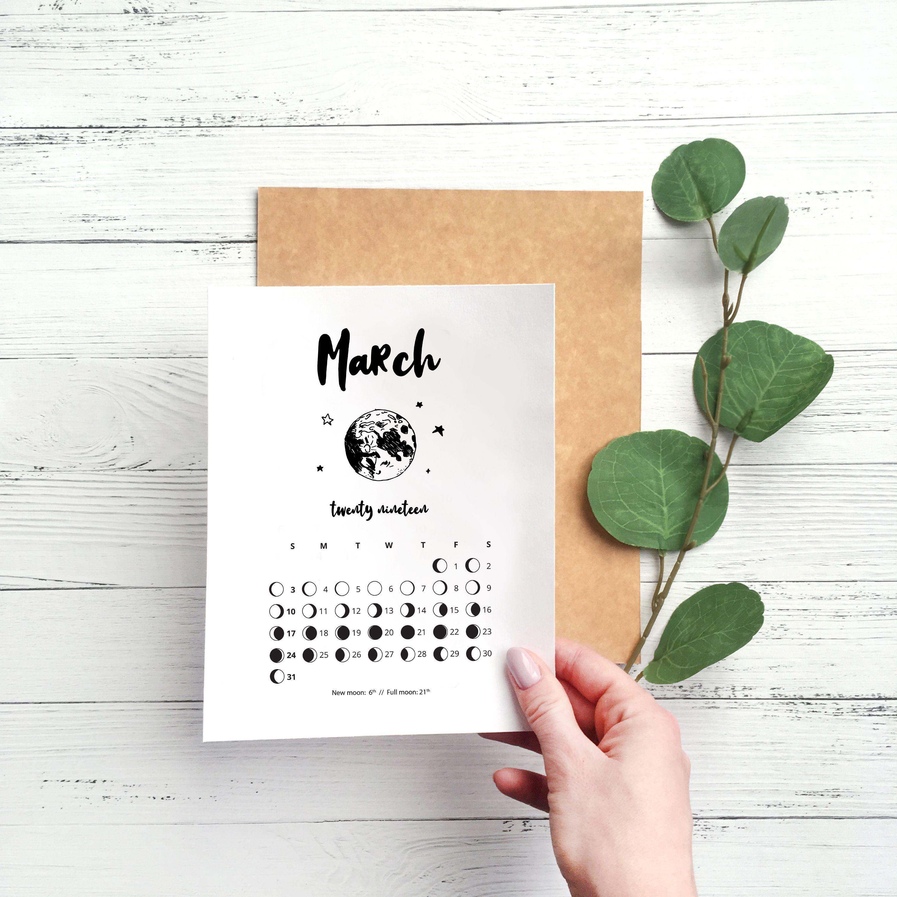 Printable Lunar Calendar Ute Desk Accessory Wall