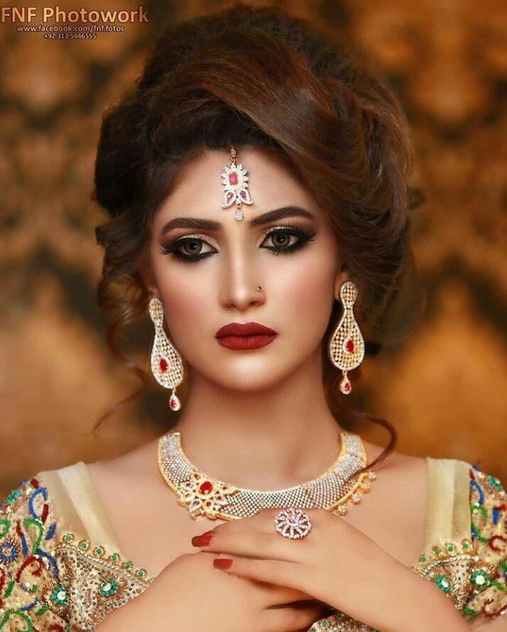 Wedding Hairstyle Pakistani: Indian Bridal Makeup, Indian Wedding