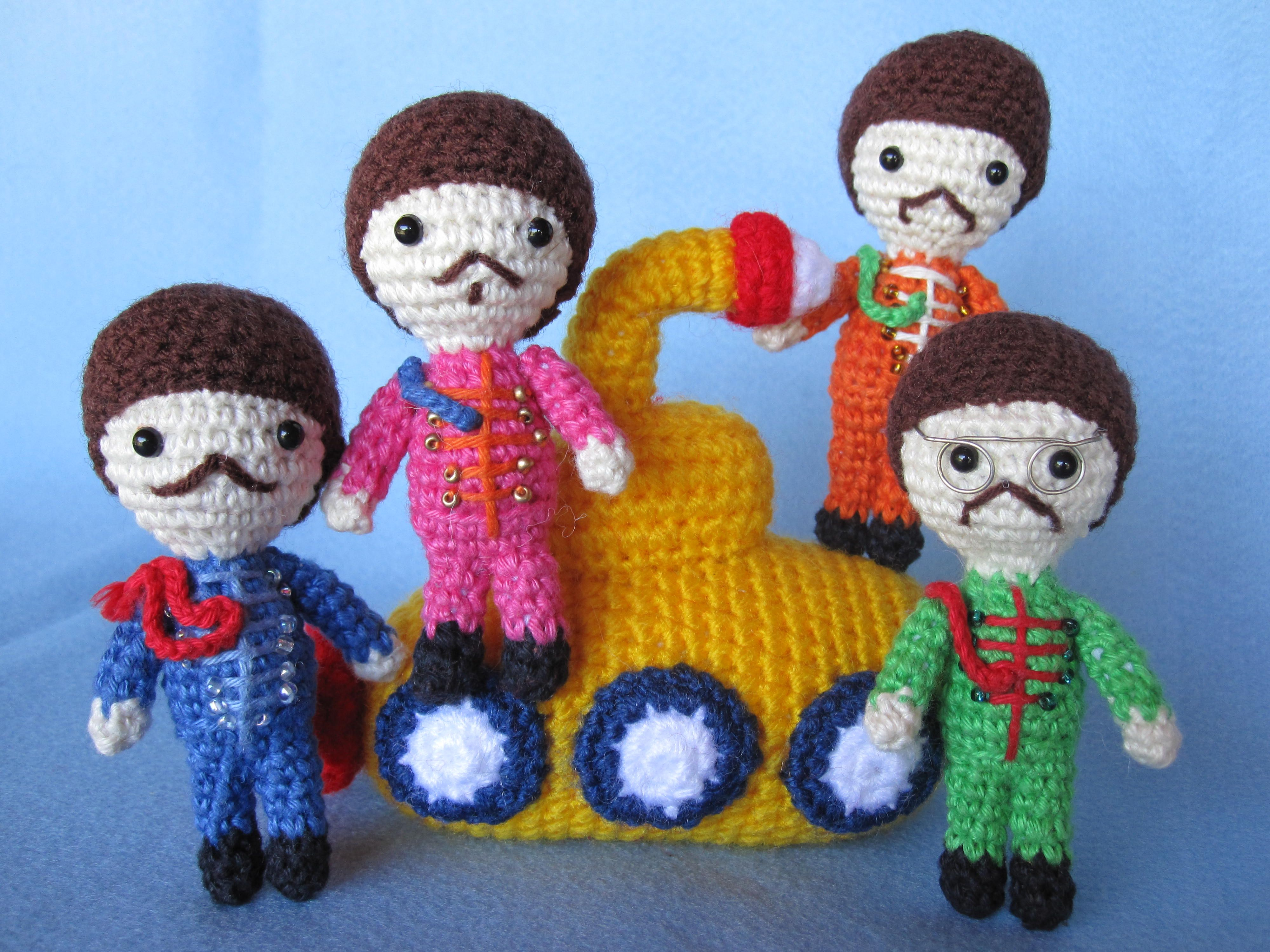 Amigurumi Learn : Crochet beatles great inspiration i will learn how to crochet