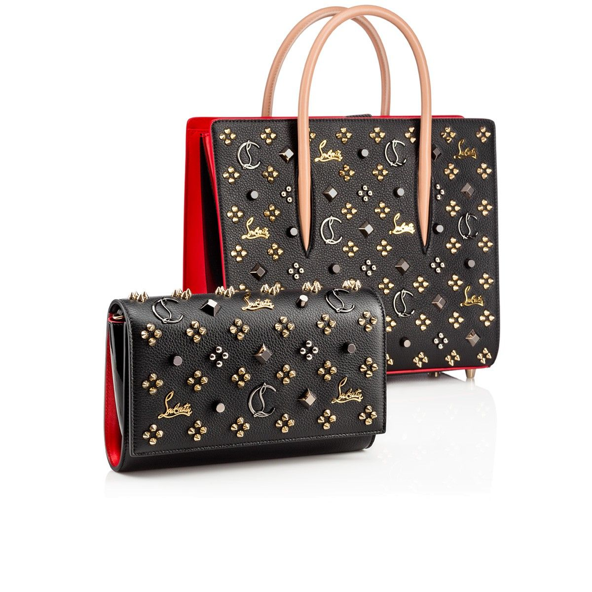 Paloma Clutch Black Calfskin - Handbags - Christian Louboutin