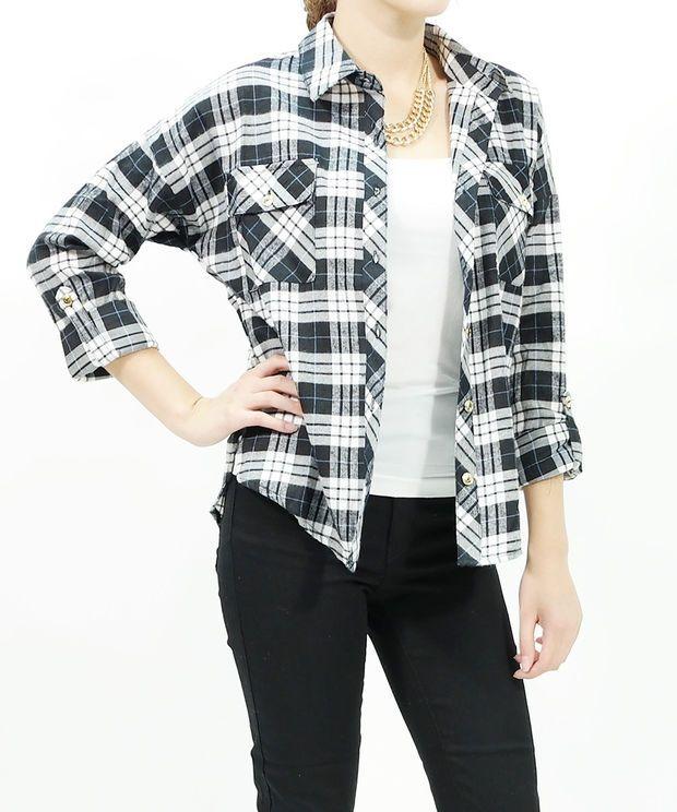 Button down plaids shirt boxy & checks flannel shirts