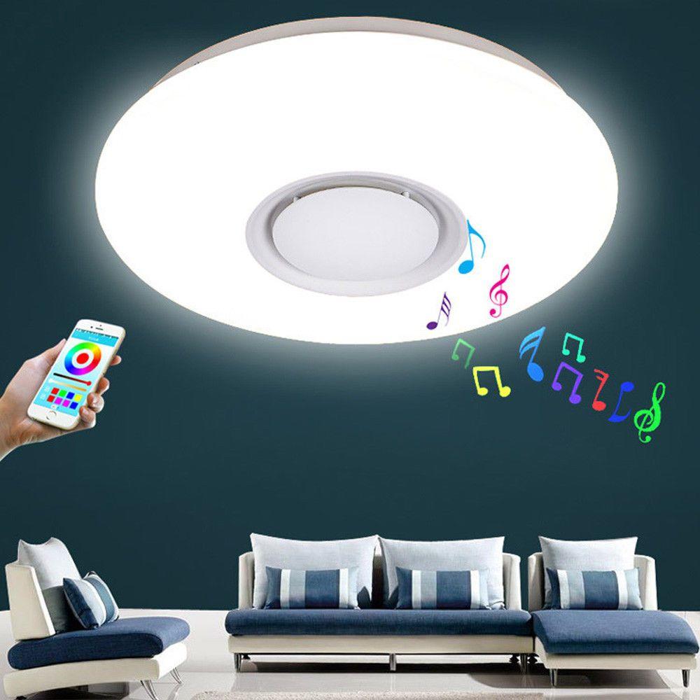 Colorful Led Light Color Changing Audio Docks Bluetooth Light Ceiling Lighting Ebay Link Ceiling Lights Led Ceiling Lights Dimmable Lamp
