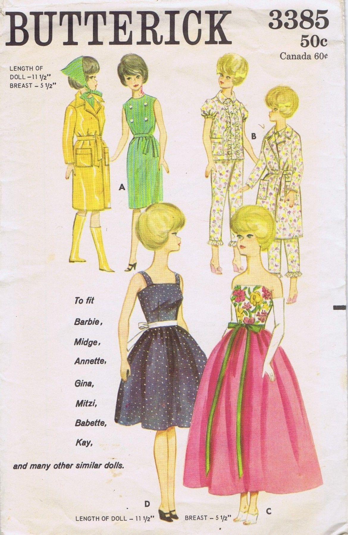 3385 Butterick | Barbie Silkstone & Fashion Royalty Dolls Ruby\'s ...