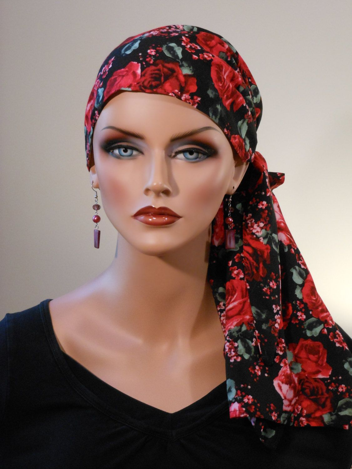 0fe687a5990 Pre-Tied  Jessica  Scarf -  Spanish Rose  - a Cancer