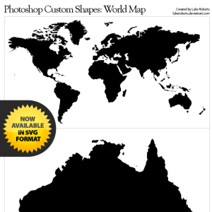 World map vector shape photoshop csh flair pinterest vector world map vector shape photoshop csh gumiabroncs Image collections