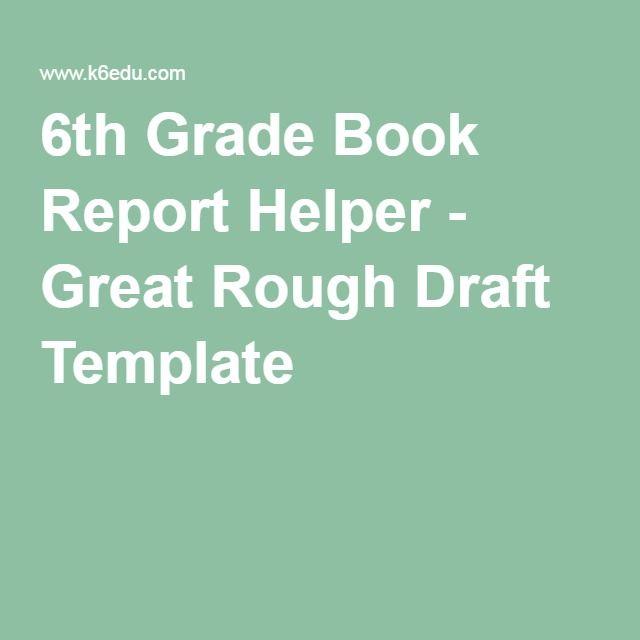6th grade book report example