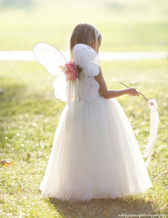 a694b60db8 Fairy Wings Butterfly White for Little Girls with Any Tutu or for a Dress  Up Party Custom Made