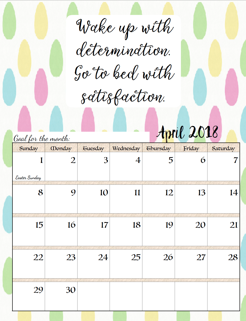Calendar Planning Quotes : April calendar with motivation quotes
