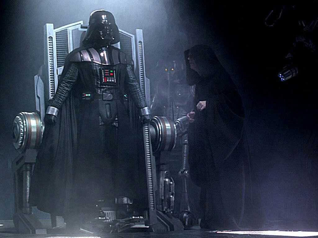 Vader S Covered In Black Armored Suit Palpatine Explains That He Killed Padme In His Rage Reven Star Wars Episodes Star Wars Darth Vader Star Wars Wallpaper