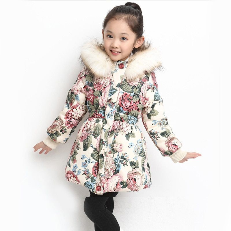 c6638f7e New Winter Girls Coat Cotton Girls Jacket Thick Fake Fur Warm Jackets For Girls  Clothes Coats